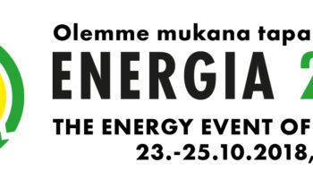 Olemme mukana Energia 2018 -tapahtumassa Tampereelle